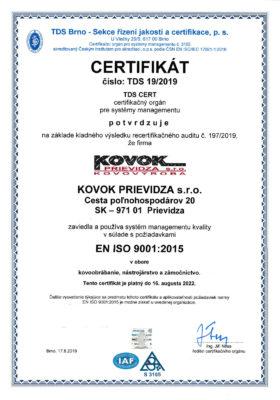 ČSN EN ISO 9001:2016 ČSN EN ISO 3834-2:20051str.